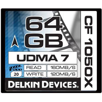 Image of Delkin 64GB 1050X UDMA 7 Cinema Compact Flash