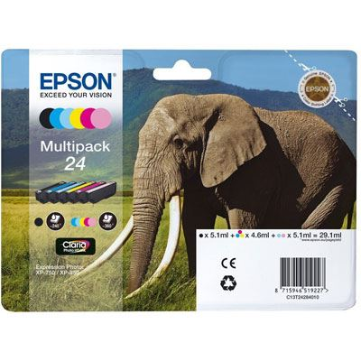 Epson 24 Multipack 6-Colours Claria Photo HD Ink Cartridge