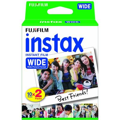 Image of Fuji Instax Wide Picture Format Film Pack of 10 Sheets x2 for 210 300