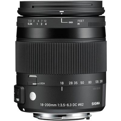 Sigma 18-200mm f3.5-6.3 DC Macro OS HSM Lens – Canon Fit