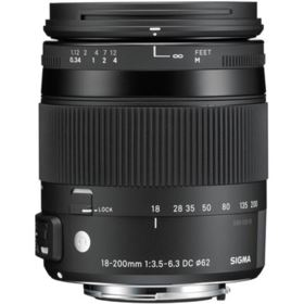Sigma 18-200mm f3.5-6.3 DC C Macro OS HSM Lens - Canon Fit
