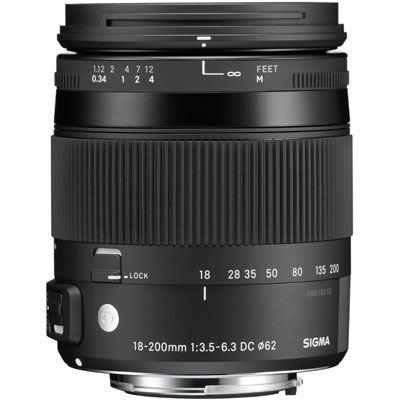Image of Sigma 18-200mm f3.5-6.3 DC Macro OS HSM Lens - Sigma SA Fit
