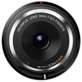 Olympus 9mm f8 Fisheye Body Cap Lens - Black