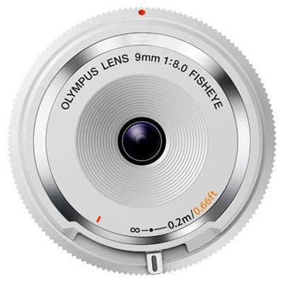 Olympus 9mm f8 Fisheye Body Cap Lens - White
