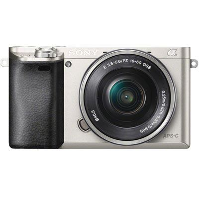 Sony A6000 Digital Camera with 16-50mm Power Zoom Lens - Silver