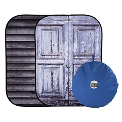 Lastolite Urban Collapsible Reversible Background 1.5 x 2m - Shutter / Distressed Door