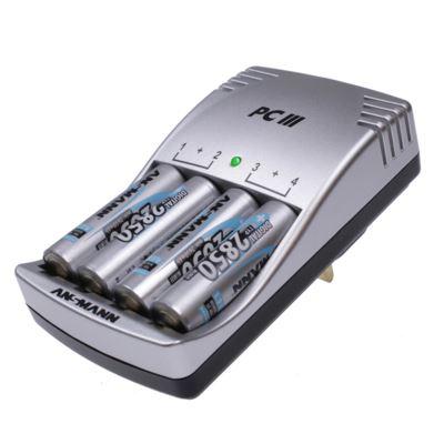 Ansmann Photocam III Charger + 4 x 2850mAh Batteries