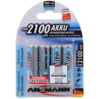 Image of Ansmann 4 x AA 2100mAh-Max e Batteries