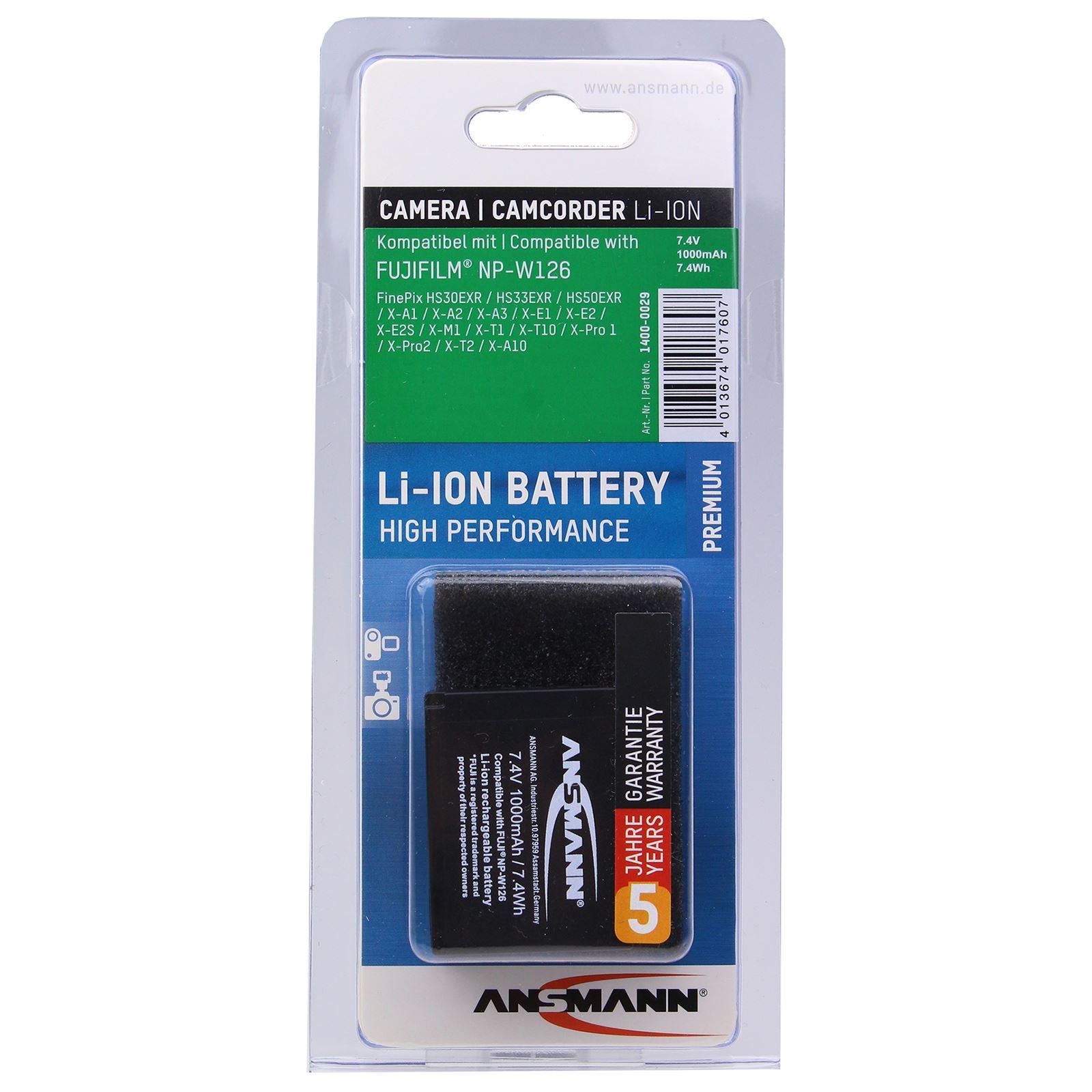 Ansmann Fuji NPW126 Battery