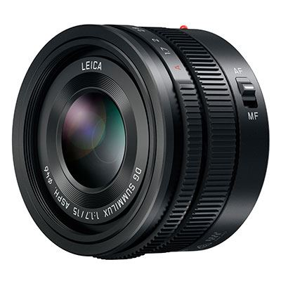 Panasonic 15mm f1.7 Leica Summilux DG ASPH Micro Four Thirds Lens - Black