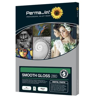 Permajet Smooth Gloss 7x5 280gsm Photo Paper - 100 Sheets