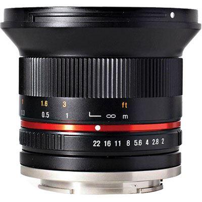 Samyang 12mm f2.0 NCS CS Lens - Sony E Fit - Black