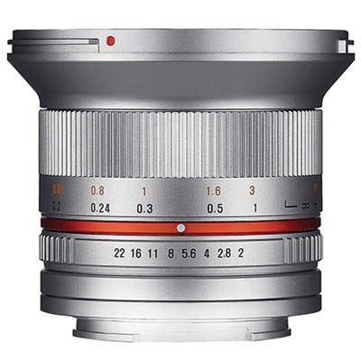 Samyang 12mm f2.0 NCS CS Lens - Samsung NX Fit - Silver
