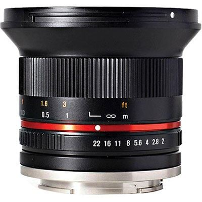 Samyang 12mm f2.0 NCS CS Lens - Fujifilm X Fit - Black
