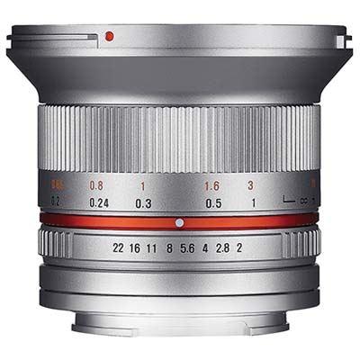 Samyang 12mm f2.0 NCS CS Lens - Fujifilm X Fit - Silver