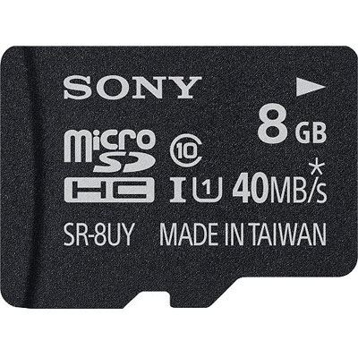 Sony 8GB UHS1 microSDHC Card with SD Adapter