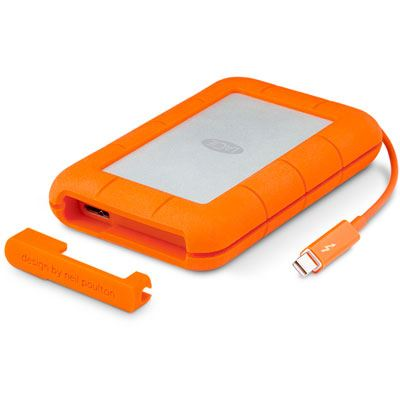 LaCie Rugged v2 Thunderbolt USB 3.0 Portable Hard Drive - 2TB
