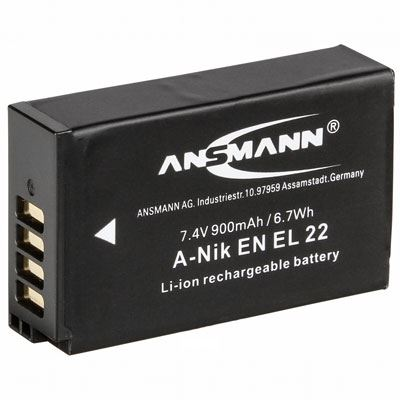 Ansmann Nikon EN EL 22 Battery