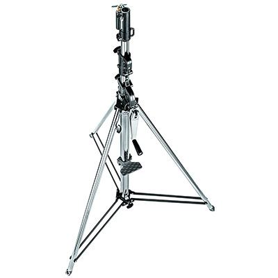 Manfrotto 087NW Wind-Up Light Stand with Safety Release Cable - Silver