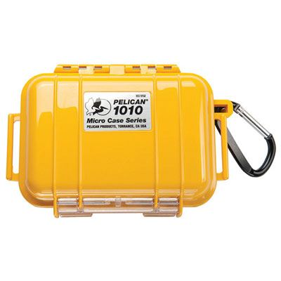 Peli 1010 Microcase Yellow with Black Liner