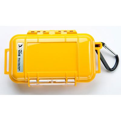 Peli 1015 Microcase Yellow with Black Liner