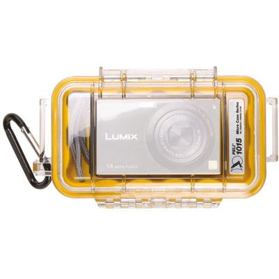 Peli 1015 Microcase Clear with Yellow Liner