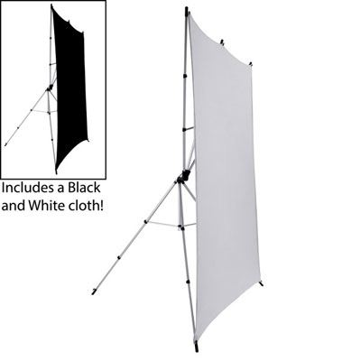 Image of Interfit EZ Drop Background Kit - White / Black
