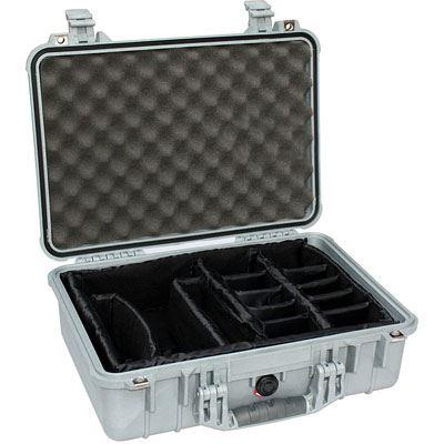 Peli 1500 Case with Foam - Silver