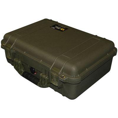 Peli 1500 Case without Foam - OD Green