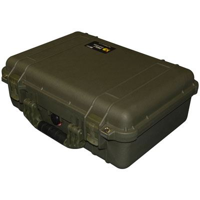 Peli 1500 Case with Dividers - OD Green