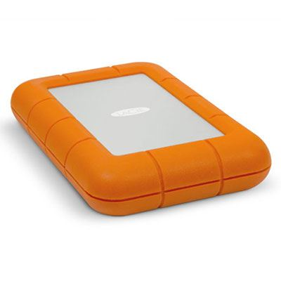 Used LaCie Rugged V2 Thunderbolt USB 3.0 Portable Hard Drive   1TB