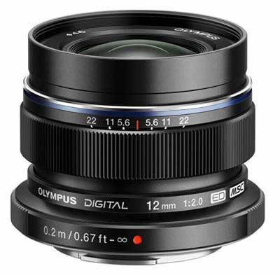 Olympus M.Zuiko Digital 12mm f2 Lens - Black