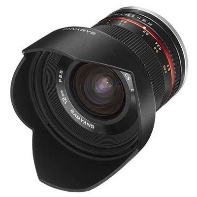 Image of Samyang 12mm f2.0 NCS CS Lens Black - Canon M Fit