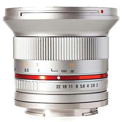 Image of Samyang 12mm f2.0 NCS CS Lens Silver - Canon M Fit