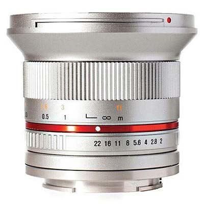 Samyang 12mm f2.0 NCS CS Lens Silver - Micro Four Thirds Fit