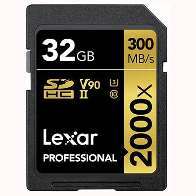 Lexar 32GB 2000x (300MB/sec) Professional UHS-II SDHC Card