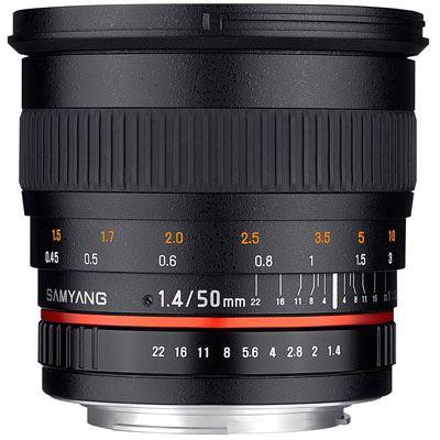 Samyang 50mm f1.4 AS UMC Lens - Canon Fit