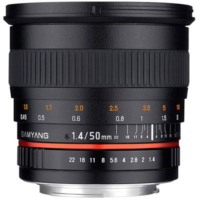 Samyang 50mm f1.4 AS UMC Lens – Pentax Fit