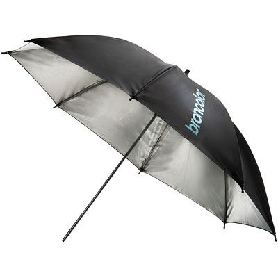 Image of Broncolor 105cm Umbrella - Silver/Black