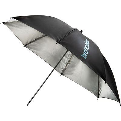 Image of Broncolor 85cm Umbrella - Silver/Black