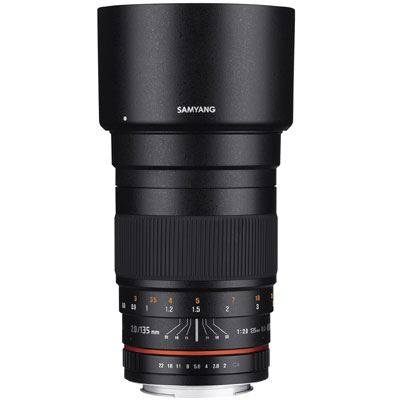 Samyang 135mm f2 ED UMC Lens – Pentax Fit