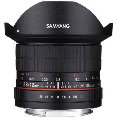 Samyang 12mm f2.8 ED AS NCS Fisheye Lens - Canon Fit