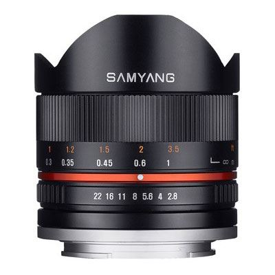 Samyang 8mm f2.8 UMC Fisheye II Lens - Sony E Fit