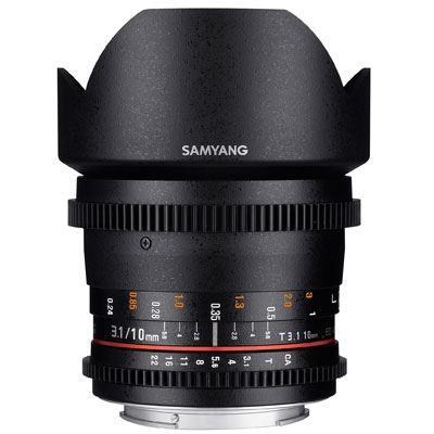 Samyang 10mm T3.1 ED AS NCS CS II VDSLR Lens - Canon Fit