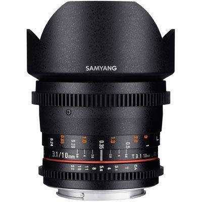 Samyang 10mm T3.1 ED AS NCS CS II VDSLR Lens - Sony Fit