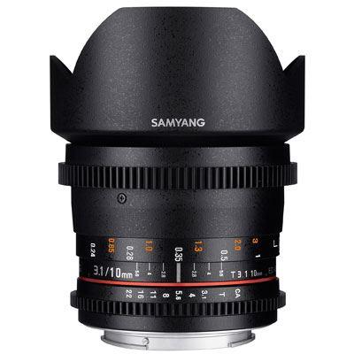 Samyang 10mm T3.1 ED AS NCS CS II Video Lens - Micro Four Thirds Fit