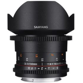 Samyang 14mm T3.1 ED AS IF UMC II VDSLR Lens - Canon Fit