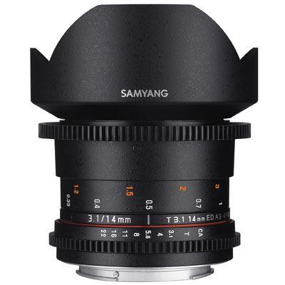 Samyang 14mm T3.1 ED AS IF UMC II Video Lens - Sony FE Mount