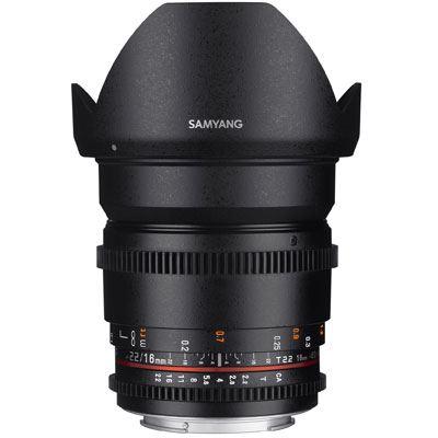 Samyang 16mm T2.2 ED AS UMC CS II Video Lens - Micro Four Thirds Mount