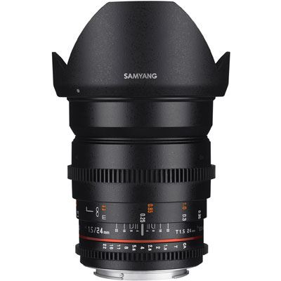 Samyang 24mm T1.5 ED AS IF UMC II VDSLR Lens - Canon Fit